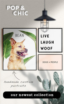 pop your pup newest pop chic collection - ultra modern art for the pet lovers
