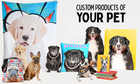 Pop Your Pup Blanket pillow tote bag canvas