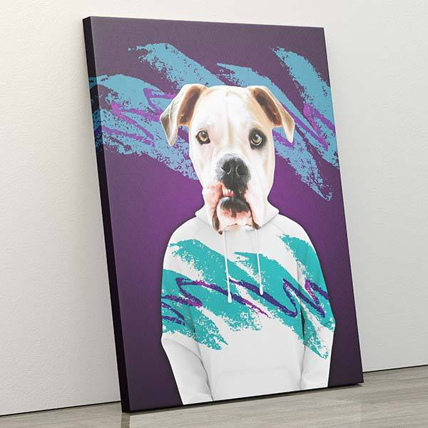 Solo - Canvas Wrap - Custom pet art of your dog or cat by pop-your-pup
