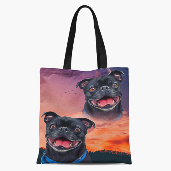 Dog Custom Tote Pet Printed Bag Personalized Pet Tote Bag Custom Tote Bag For Dog Lovers Go Away For Pet Lovers