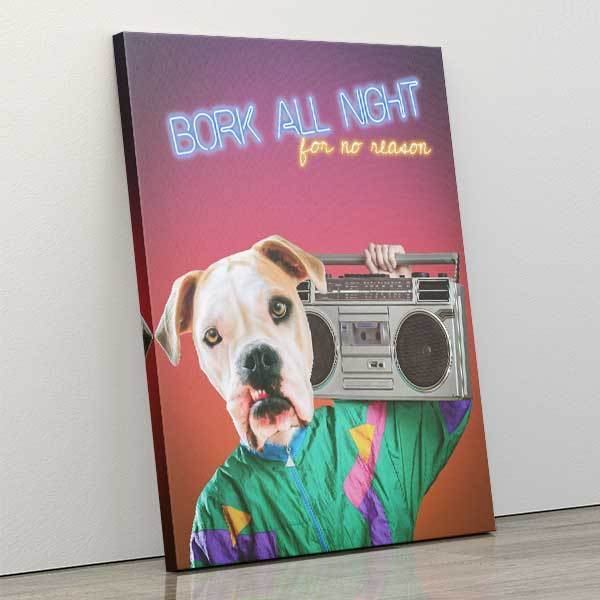 Boomin - Canvas Wrap - Custom pet art of your dog or cat by pop-your-pup