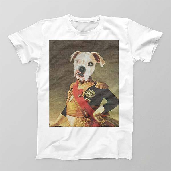 Colonel Fido - Mens Crew - Custom pet art of your dog or cat by pop-your-pup