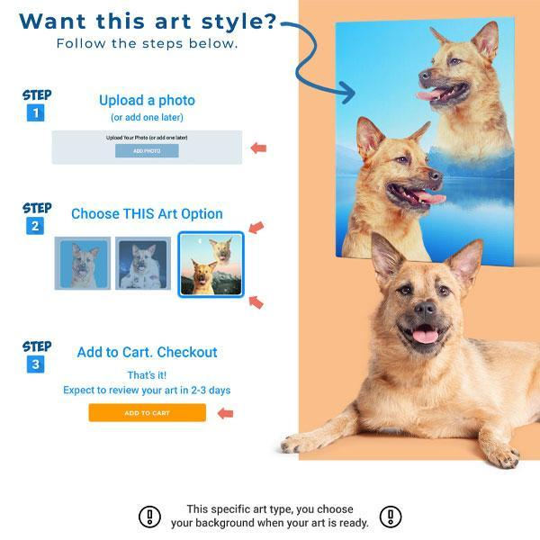 Custom Pet Art Canvas Wrap - Pop Your Pup!™