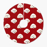 Custom Pet Art Christmas Tree Skirt - Pop Your Pup!™
