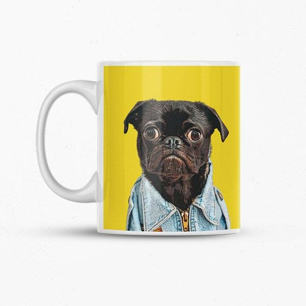 Pug face dog personalised mug printed cup puppy dogs BIRTHDAY Gift