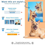 Custom Pet Art Framed Canvas - Pop Your Pup!™