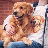 Custom Pet Art Mens Crew Neck T-shirt