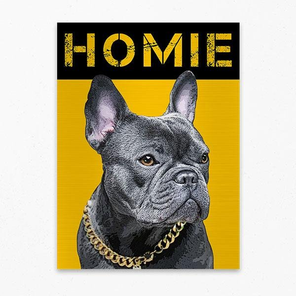 Custom Pet Art Metal Print - Pop Your Pup!™