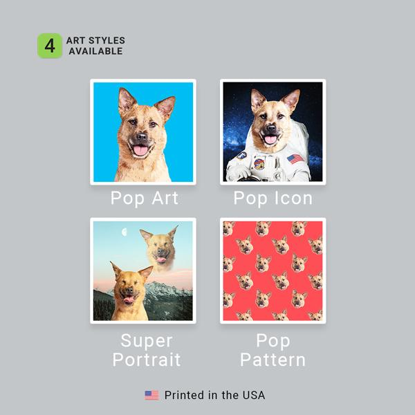 Custom Pet Art Sherpa Blanket - Pop Your Pup!™