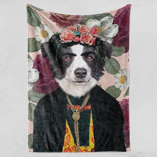 Frida - Fleece Blanket - Pop Your Pup!™