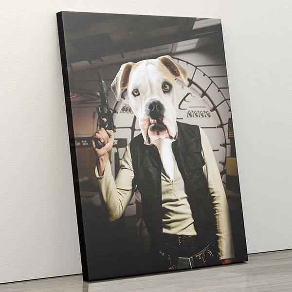 Han Borko - Canvas Wrap - Custom pet art of your dog or cat by pop-your-pup