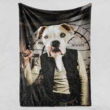 Han Borko - Fleece Blanket - Custom pet art of your dog or cat by pop-your-pup