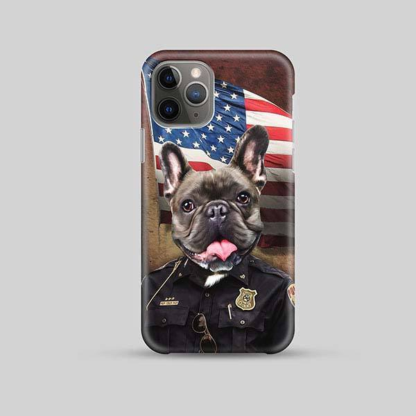 Police Pawfficer - Phone Case - Custom pet art of your dog or cat by pop-your-pup