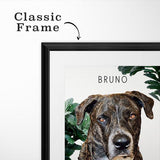 Pop Chic Framed Gallery Print - Custom pet art of your dog or cat by pop-your-pup
