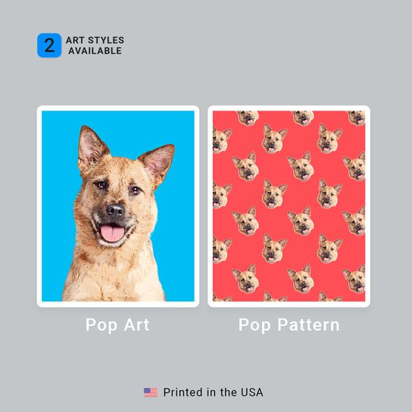 Custom Pet Art Dog Bowls - Pop Your Pup!™
