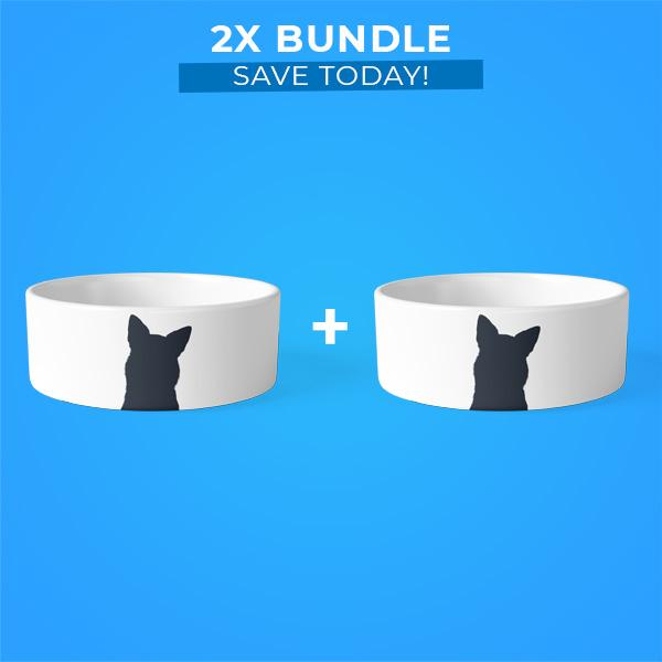 2x Pet Bowls Bundle