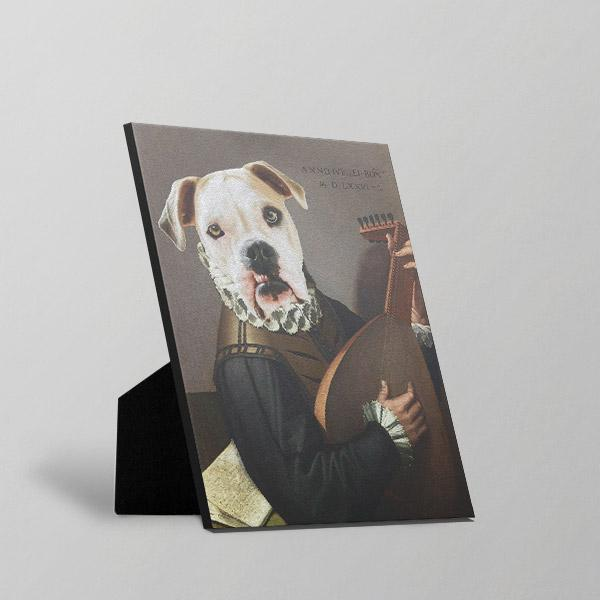 Borks And Banjos - Standing Canvas by Pop Your Pup