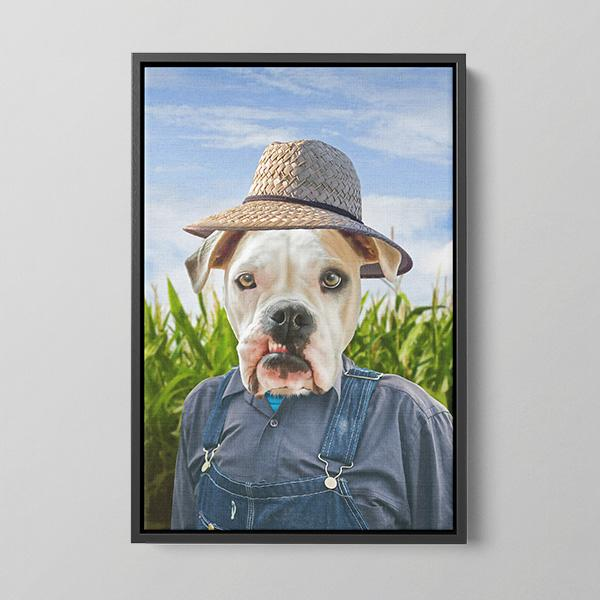 Farmer - Framed Canvas