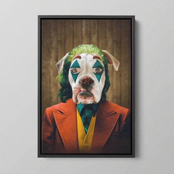 Pet icon Renaissance dog art Framed Canvas Why So Serious