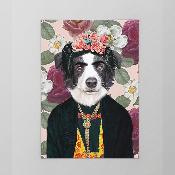 Frida - Unframed Print - Pop Your Pup Colonial Art