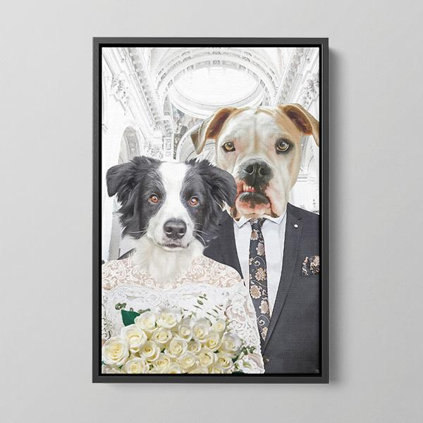 Married Couple - Framed Canvas