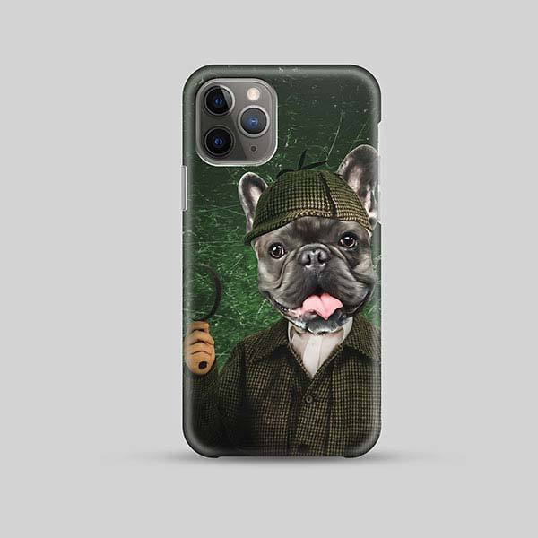Sherlock Holmes - Phone Case - Custom pet art of your dog or cat by pop-your-pup