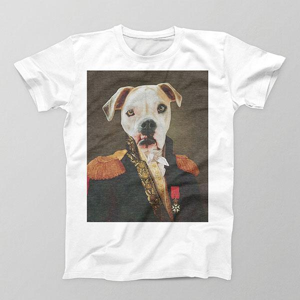 Sir Chases Tail - Mens Crew - Custom pet art of your dog or cat by pop-your-pup