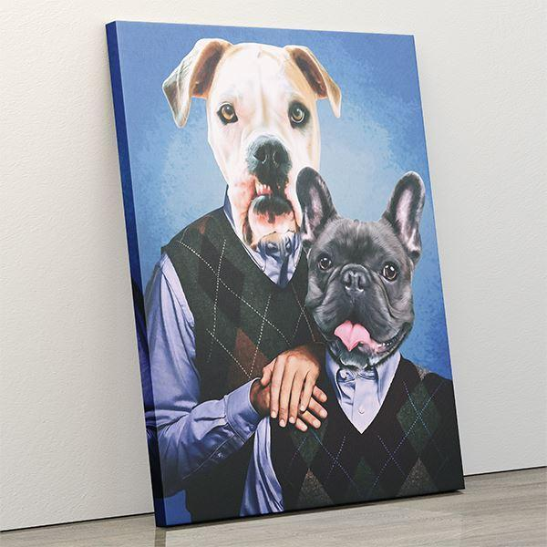 Step Puppers - Canvas Wrap - Custom pet art of your dog or cat by pop-your-pup