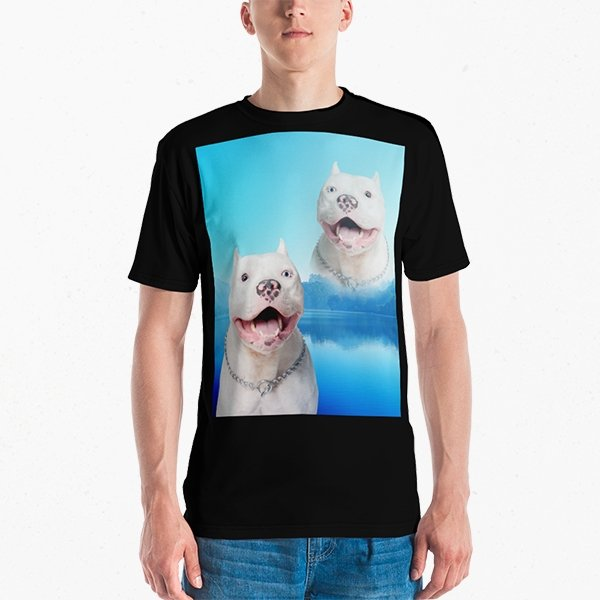 Super Portrait Mens Crew Neck T-shirt - Pop Your Pup!™