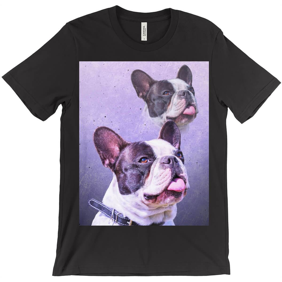 Super Portrait Mens Crew Neck T-shirt - Custom pet art of your dog or cat by pop-your-pup