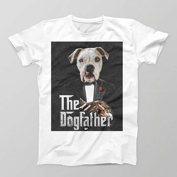 The Dog Father - Mens Crew - Custom pet art of your dog or cat by pop-your-pup