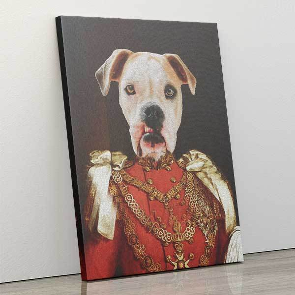 You Fetch - Canvas Wrap - Custom pet art of your dog or cat by pop-your-pup