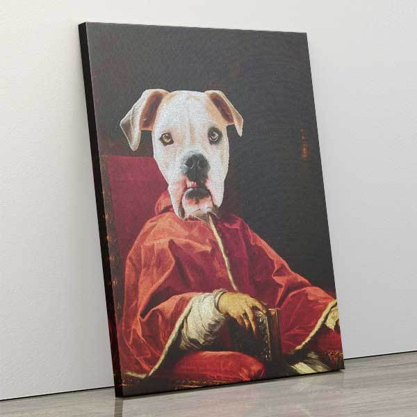 Your Highness - Canvas Wrap - Custom pet art of your dog or cat by pop-your-pup