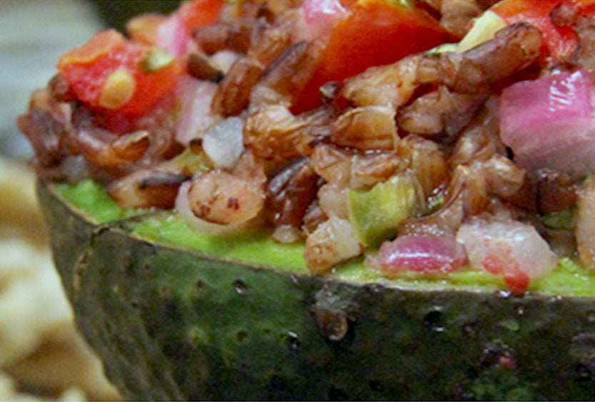 Baked Avocado with Lundberg Wild Rice Salsa