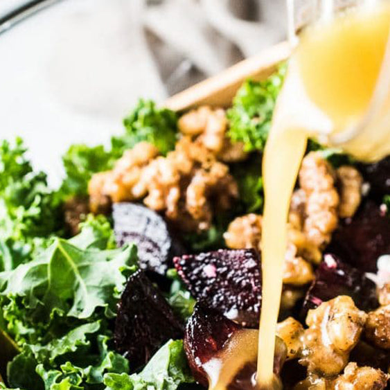 Roasted Beet and Kale Salad with Cranberries