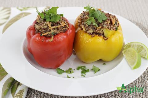 Coconut Curry Stuffed Peppers