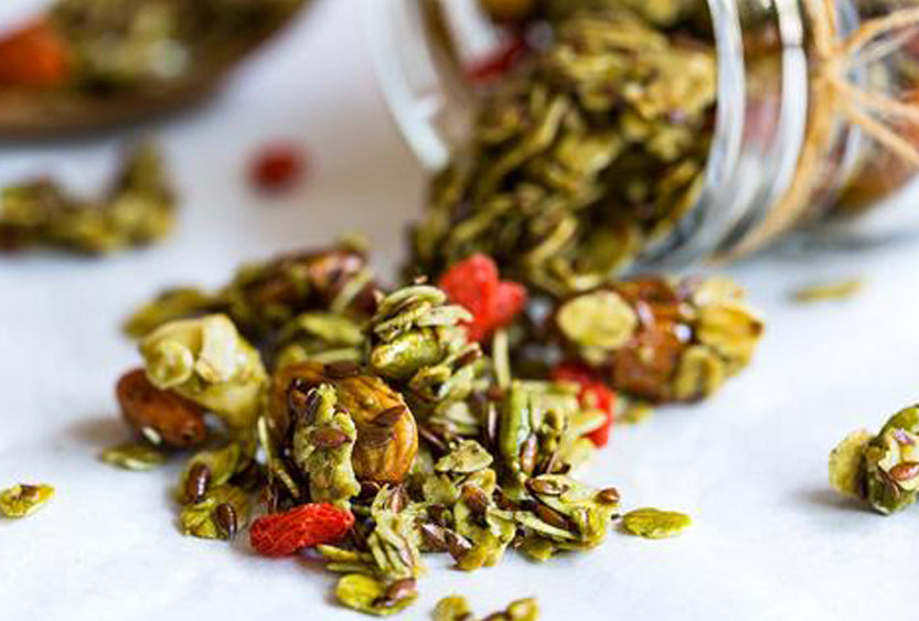 Coco-Matcha Granola, A Breakfast Powerhouse!