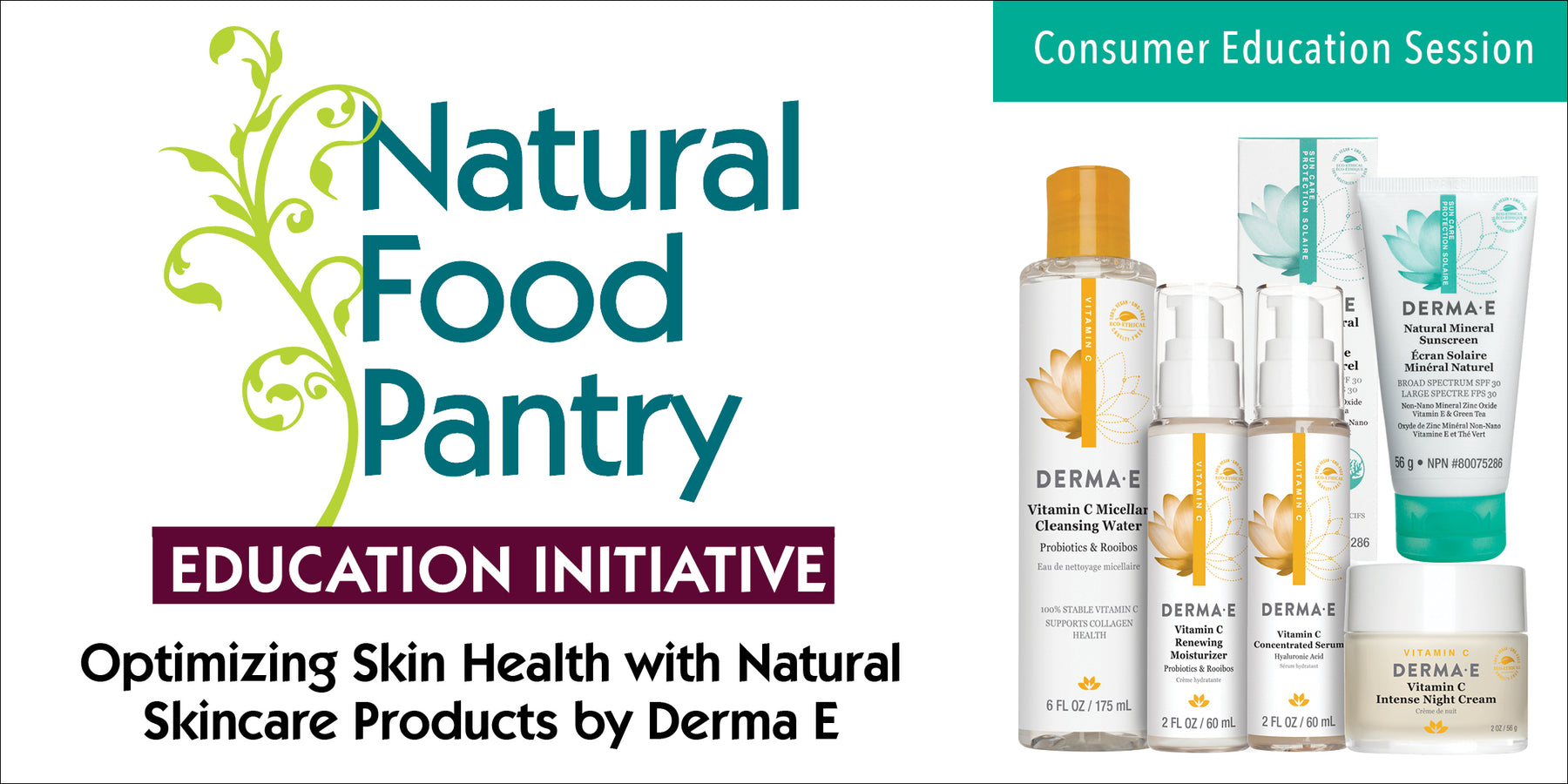 May 8: Optimizing Skin Health with Derma E Natural Skincare Products