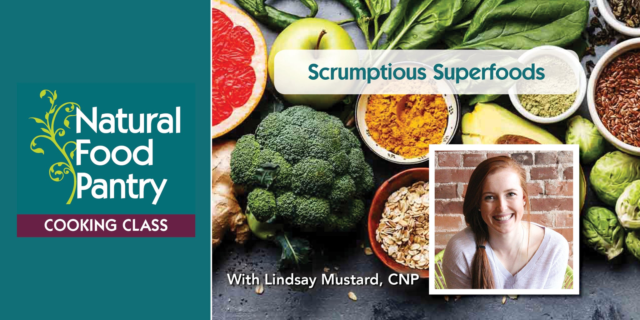 Sep 5:  NFP Cooking Class: Scrumptious Superfoods