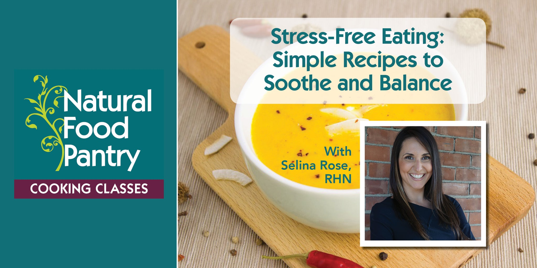 May 25: NFP Cooking Class:  Stress-Free Eating - Simple recipes to soothe and balance