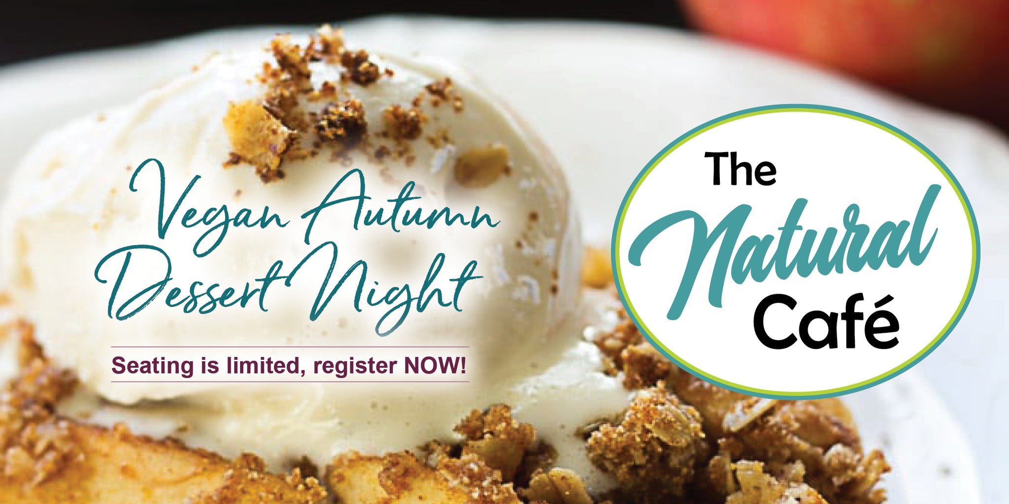 Oct 4: Vegan Dessert Night at The Natural Cafe