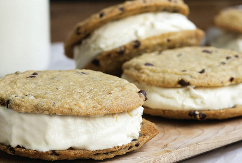 Gluten Free Chocolate Chip Ice Cream Sandwiches