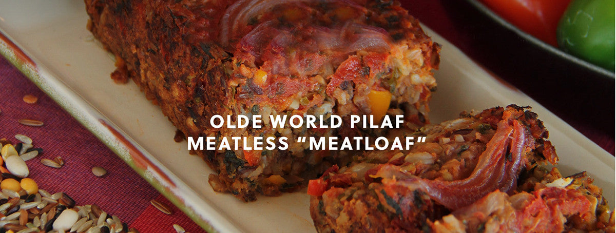 "Olde World Pilaf Meatless ""Meatloaf"""