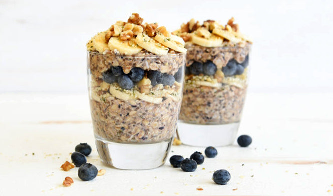 Blueberry Hemp Overnight Oats