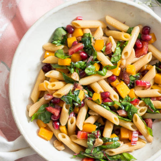 Protein Pasta with Maple Butternut Squash