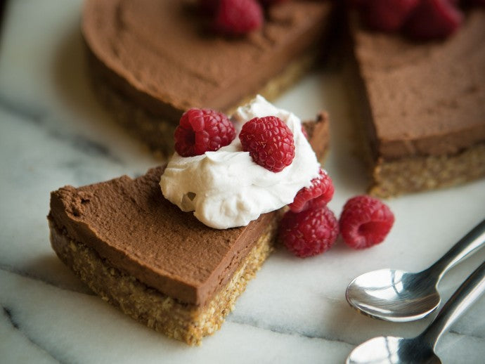 """Raw"" French Silk Chocolate Pie with Coconut Whipped Cream"