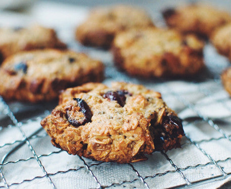 Nutty Cranberry Oatmeal Breakfast Cookies