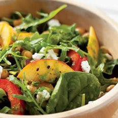 Peach Salad with Herb Oil