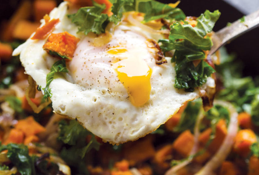 Sweet Potato, Red Onion and Kale Hash
