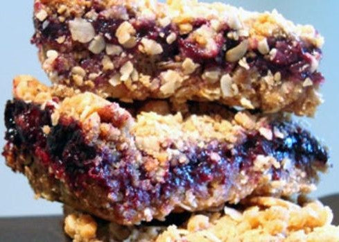 Blackberry Jam Oat Squares